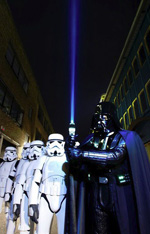 UKG Darth Vader turn the BT Tower into a giant lightsaber