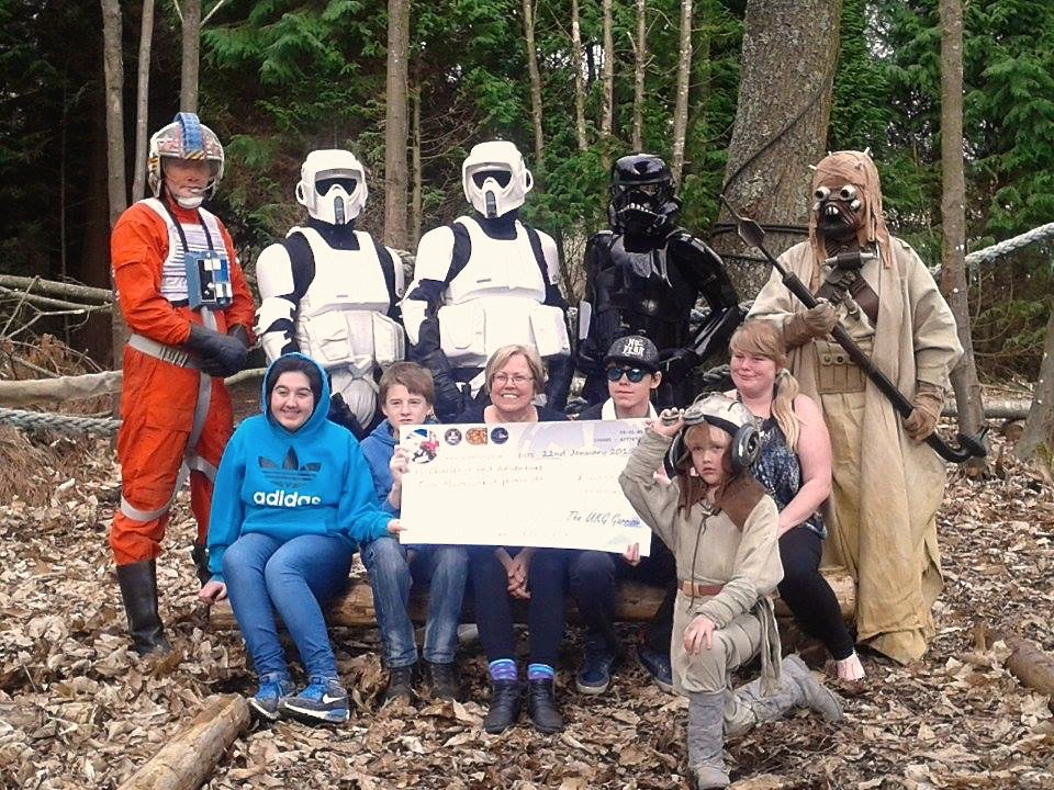 Challenge and Adventure Isle of Wight, cheque presentation