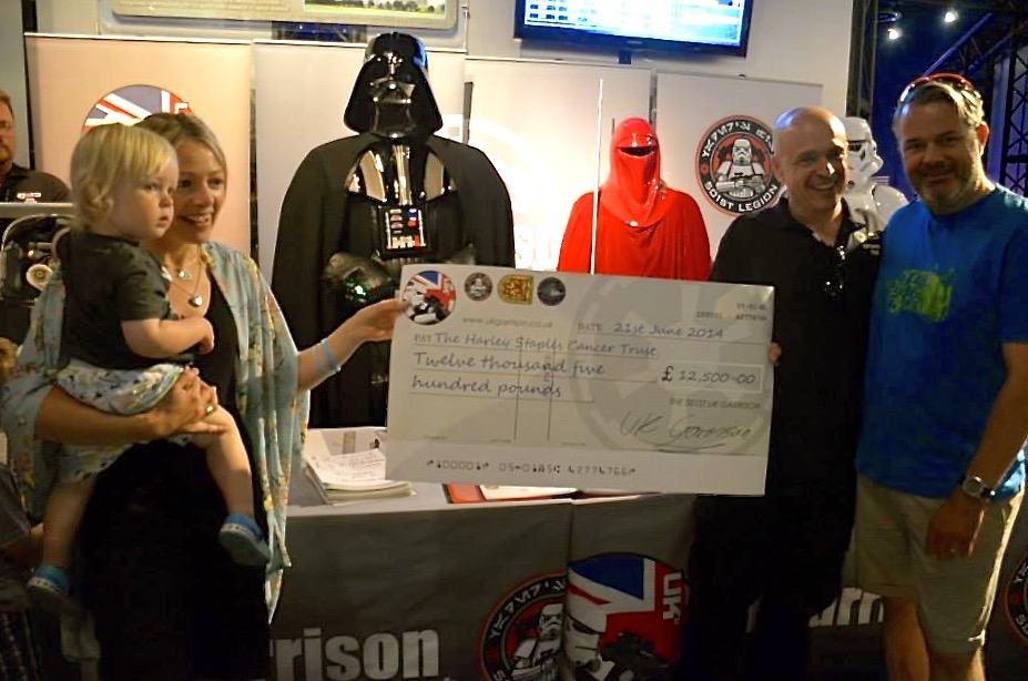 The Harley Staples Cancer Trust cheque presentation