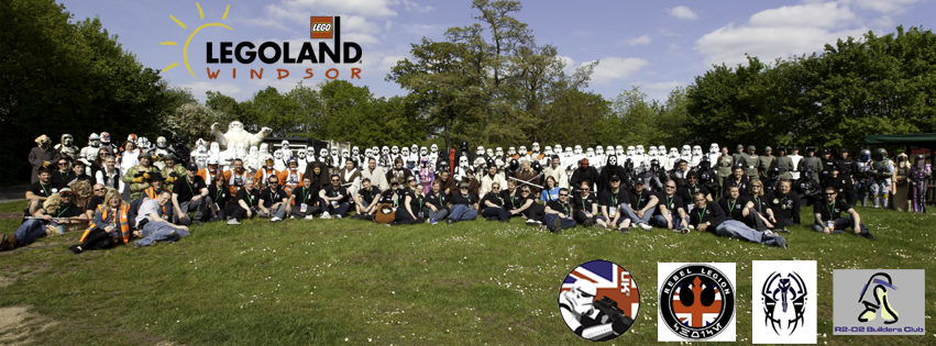 Members of the UK Garrison, Rebel Legion UK, Mandalorian Mercs UK and R2 Builders Club at LEGOLAND Windsor