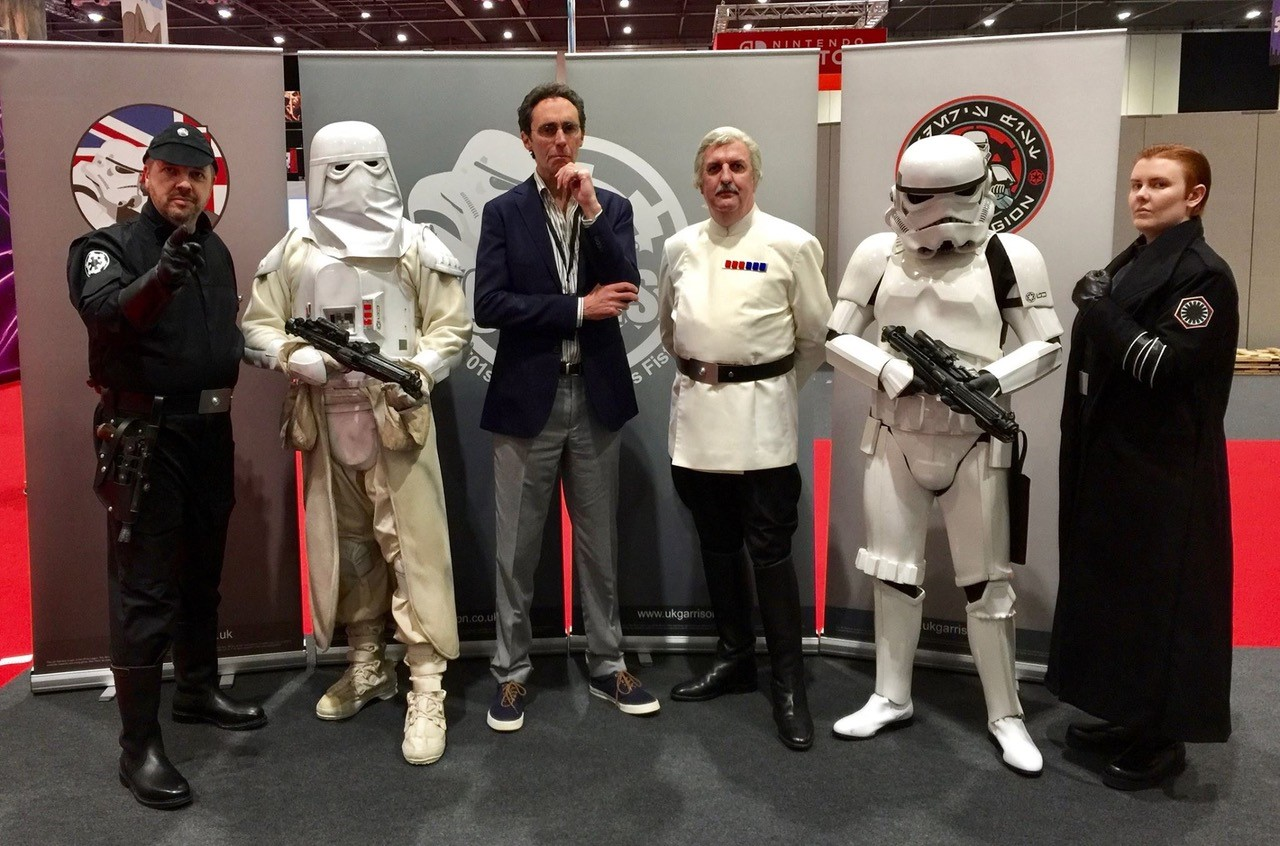 Guy Henry with members of the UKG