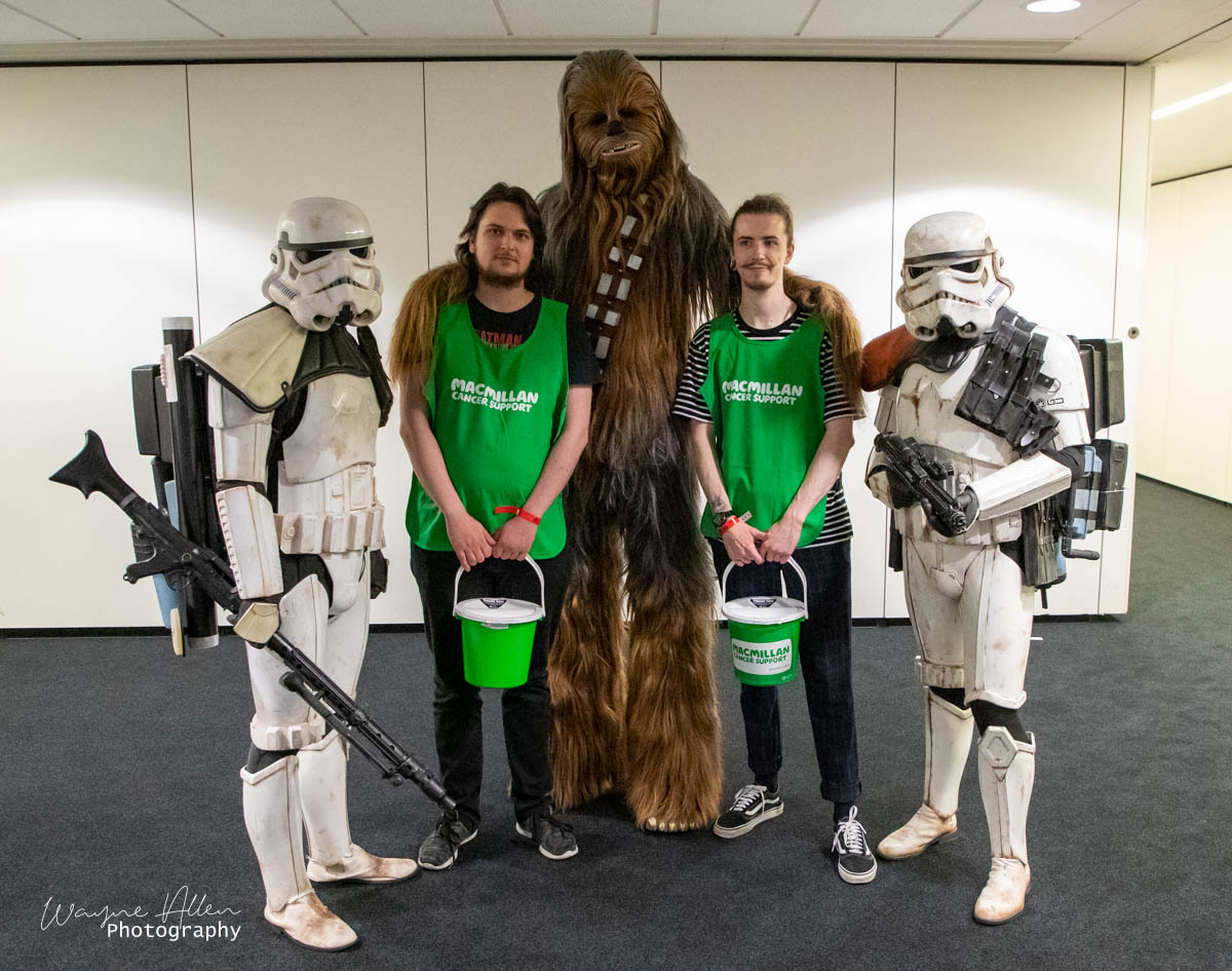 The Team from Macmillian meeting Chewie