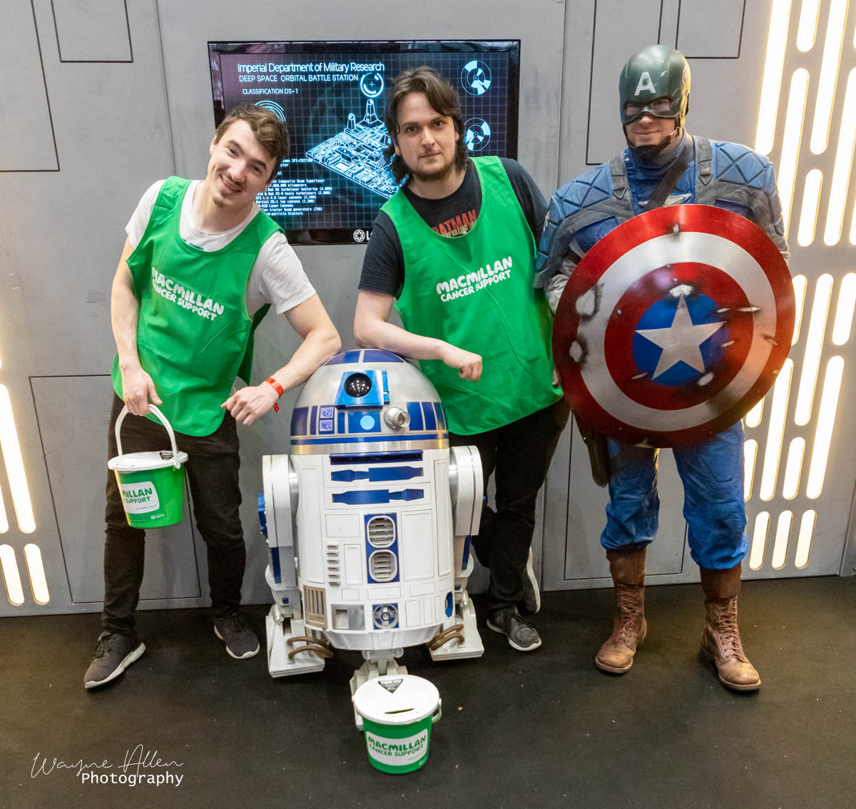 Having a break with R2 and captain America