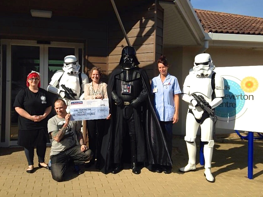 Earl Mountbatten Hospice cheque presentation