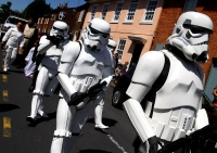 Darth Vadar leads Stormtroopers for East Common Project through Redbourn's High Street