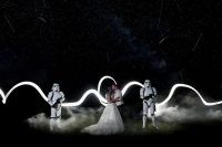 Bride surprised her Star Wars fan groom with Stormtroopers... then they got a meteor shower