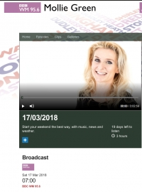 UKG on BBC's Mollie Green show