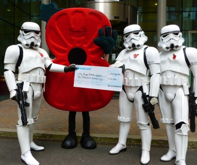 Cheque for the Royal British Legion