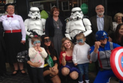 Deputy Mayor and St Albans' superheroes raise money for Macmillan Cancer Support