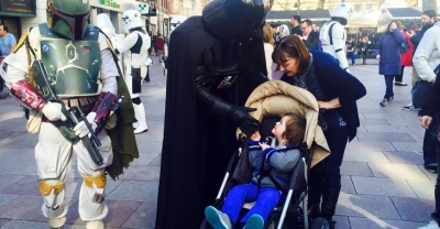 Star Wars men turned up for charity